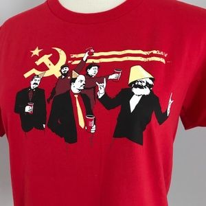 Threadless The Communist Party w/ Red Solo Cups L